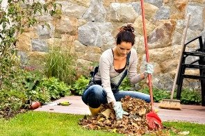 Clear leaves from your paths and garden to keep your London property looking tidy and well maintained